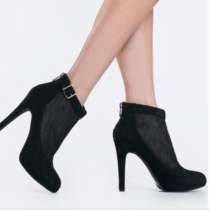 Jessica Simpson lace and suede black booties!